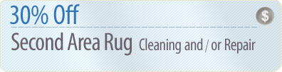 Cleaning Coupons | 30% off second rug cleaning or repair | Queens Rug Cleaners