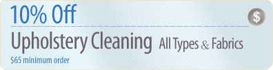 Cleaning Coupons | 10% off upholstery cleaning | Queens Rug Cleaners