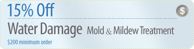 Cleaning Coupons | 15% off mold & mildew removal | Queens Rug Cleaners
